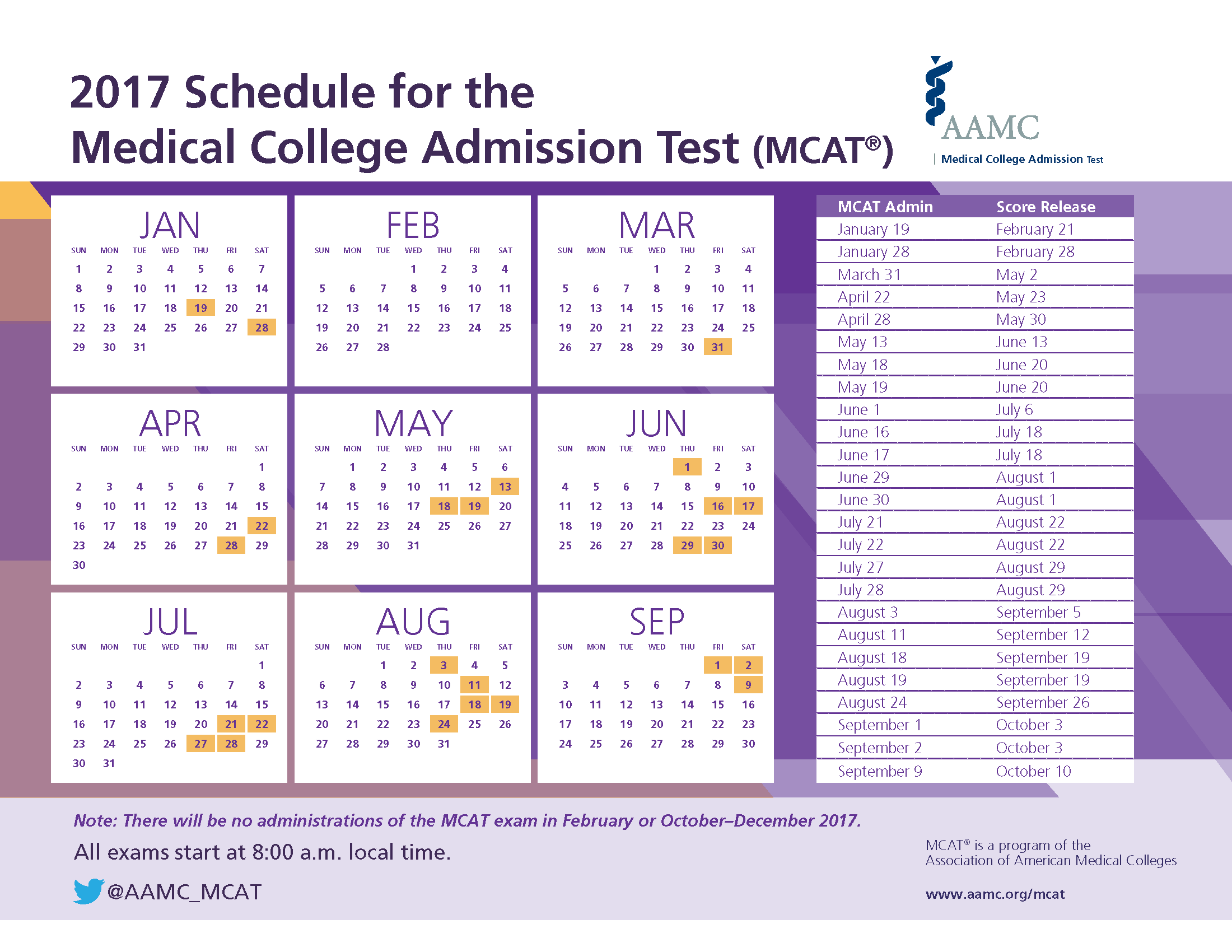 ... medical schools may review your application without waiting for your  new score. 9. Standardized Tests Contact MCAT mcat@aamc.org | 202-828-