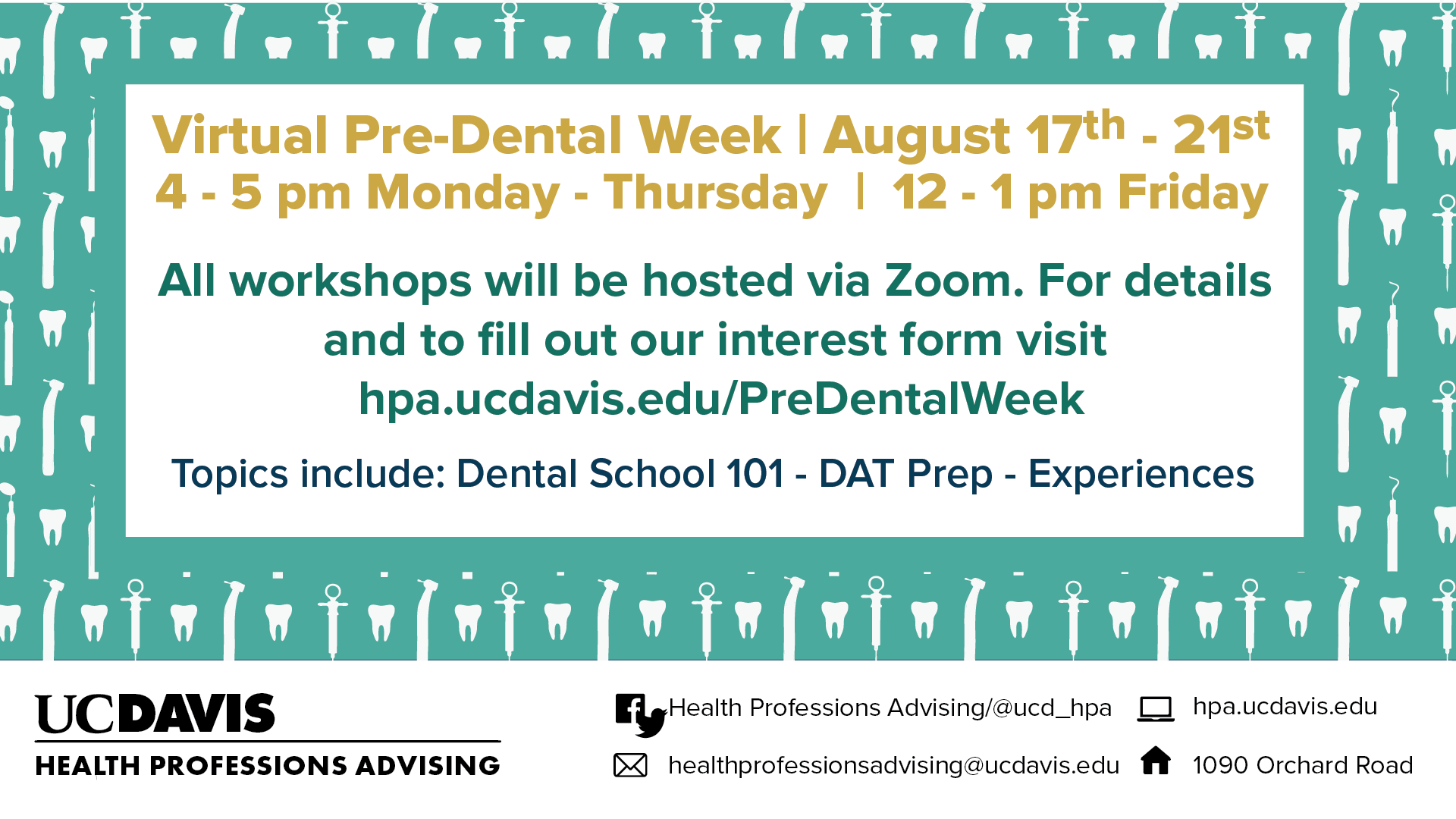 UC Davis Pre-Dental Week